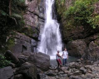 La Mina Waterfall on less visited hours (El Yunque Hybrid for Groups)